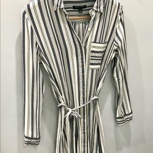Banana Republic Striped Button Down Dress